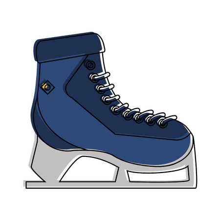 ice skate winter sport icon image vector illustration design Illustration