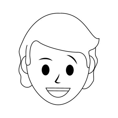 woman smiling icon image vector illustration design  black line