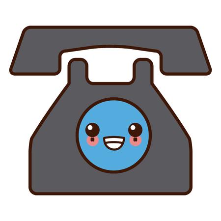 téléphone communication appareil dessinée mignon illustration de bande dessinée
