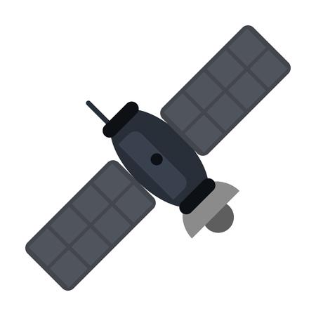 satellite telecommunications related icon image vector illustration design