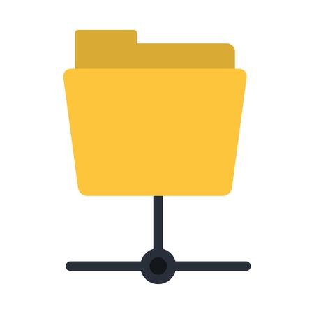File folder linked icon image vector illustration design.