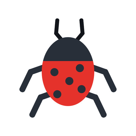 Ladybug insect or bug icon image vector illustration design. Illustration