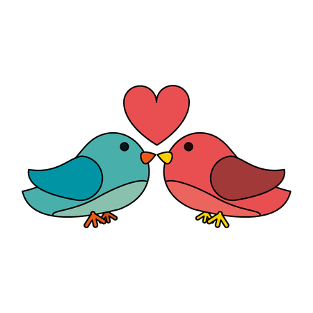Lovebirds romance icon image vector illustration design.
