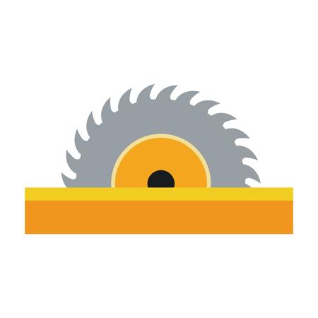 Cirkel van de het pictogram het vectorillustratie van het zaagpictogram grafische ontwerp