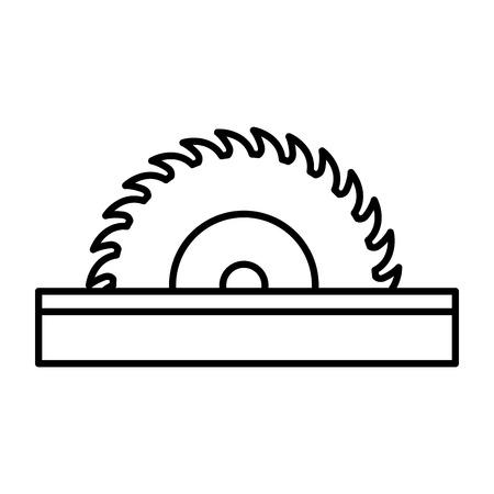Circular blade saw icon vector illustration graphic design Vettoriali