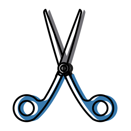 Scissor utensil isolated icon vector illustration graphic