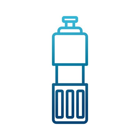 Thermo bottle isolated icon vector illustration graphic design