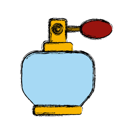 Fragrance bottle isolated icon vector illustration graphic