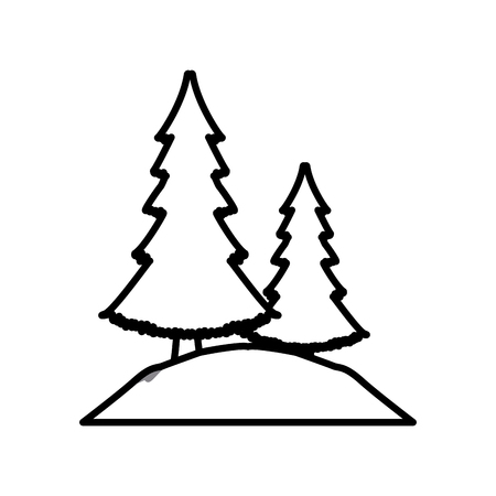 Trees and bushes icon vector illustration graphic design Illustration