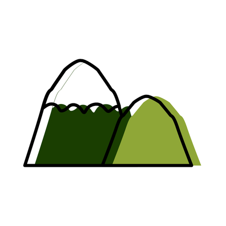Mountains nature landscape icon vector illustration graphic design