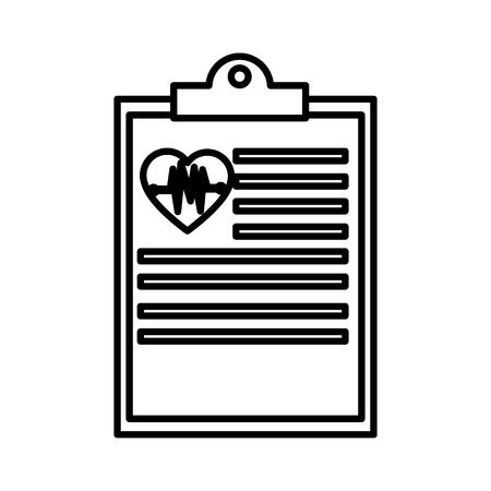 Medical document historial icon vector illustration graphic design Illustration