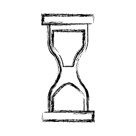 Hourglass sandtime isolated icon vector illustration graphic design