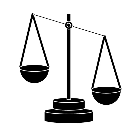 justice balance symbol icon vector illustration graphic design