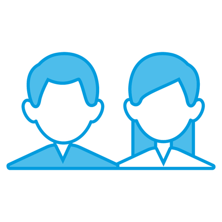 Business Teamwork avatar icon vector illustration graphic design Illustration