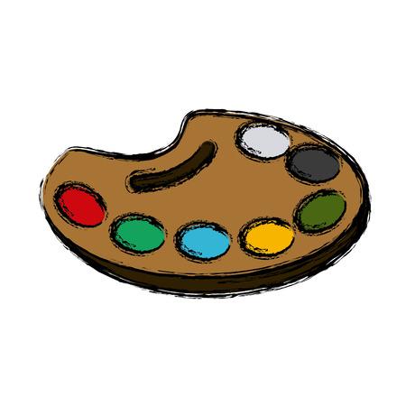 Paint palette art icon vector illustration graphic design