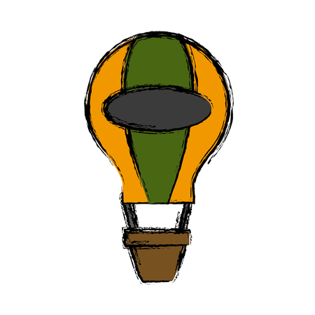 Hot air balloon icon vector illustration graphic design Illustration