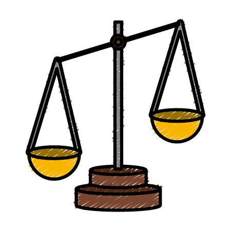 justice balance symbol icon vector illustration graphic design