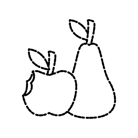 Apple and pear icon vector illustration graphic design