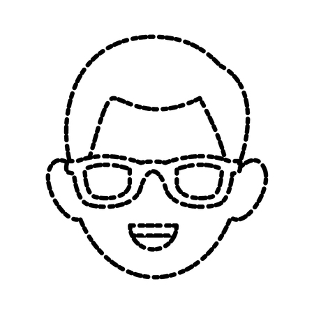 Man with glasses icon vector illustration graphic design Illustration