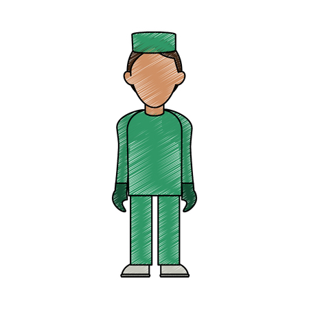 nurse man avatar icon image vector illustration design