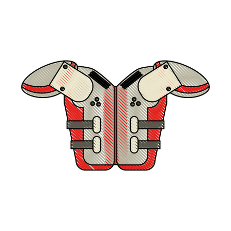 under armour american football related icon image vector illustration design