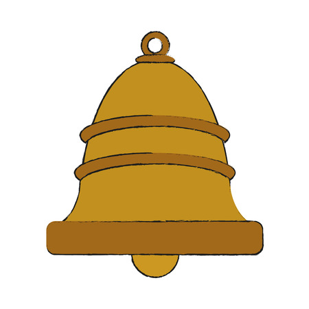 single bell icon image vector illustration design