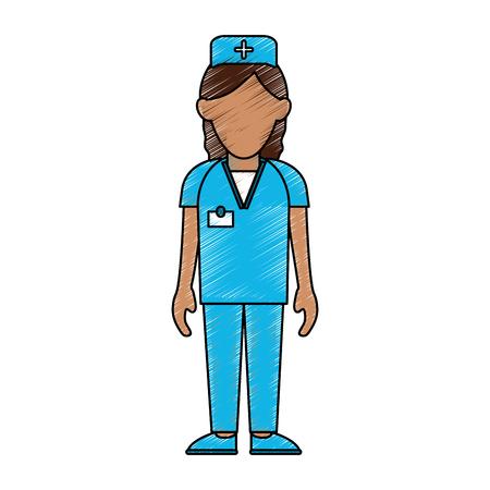 lifeline: nurse woman avatar icon image vector illustration design Illustration