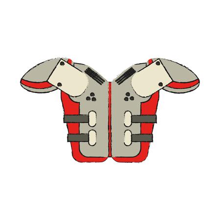 american football related icon image vector illustration design Illustration