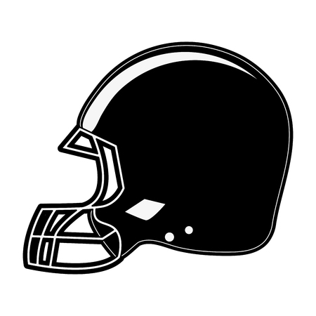 Helmet american football related icon image vector illustration design.