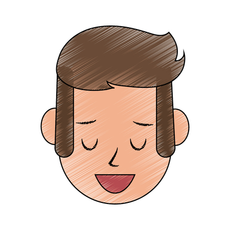 Man happy relaxed icon image vector illustration design.