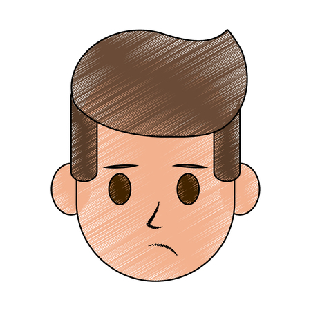 emotional stress: Man worried icon image vector illustration design.