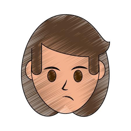 Woman disgruntled icon image vector illustration design.