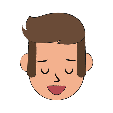 Man happy relaxed icon image vector illustration design