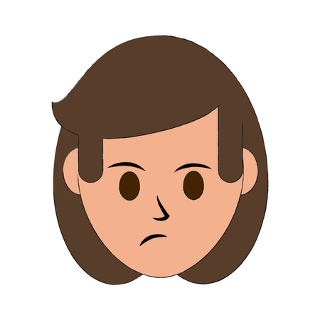 Woman disgruntled icon image vector illustration