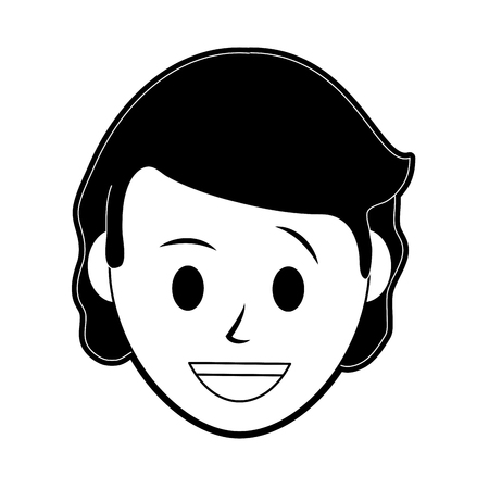 A woman smiling icon Illustration