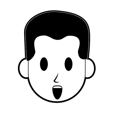 Happy and relaxed man icon image vector illustration