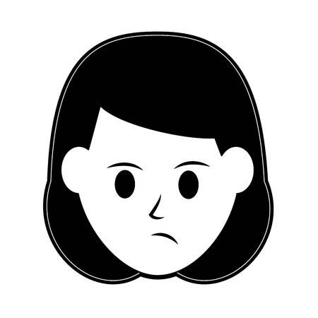 woman disgruntled icon image vector illustration design