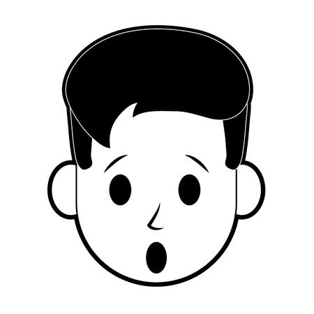 Man surprised icon image vector illustration