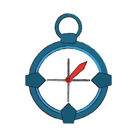 global positioning system: compass navigation icon image vector illustration design