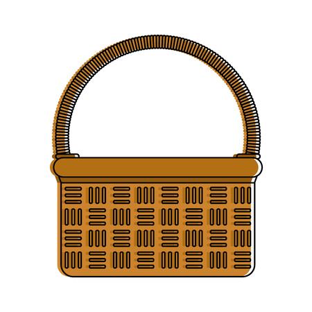 wicker basket icon image vector illustration design Illustration