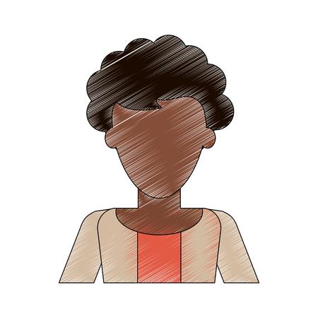 business woman avatar portrait icon image vector illustration design