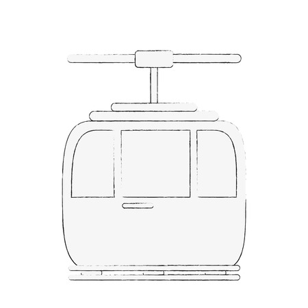 funicular cable car icon image vector illustration design