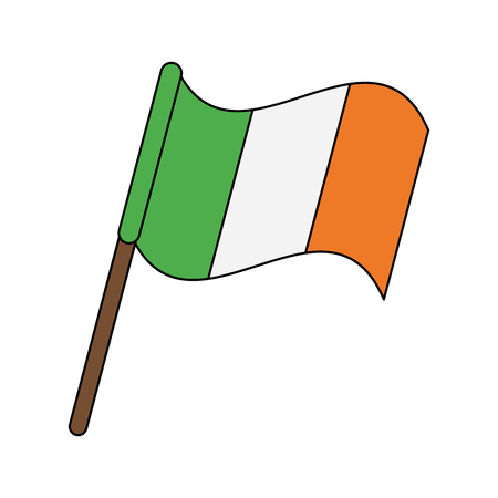 ireland flag icon image vector illustration design