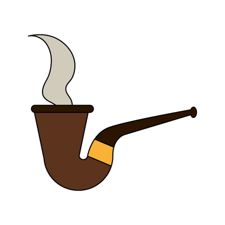 pipe smoking icon image vector illustration design Illustration