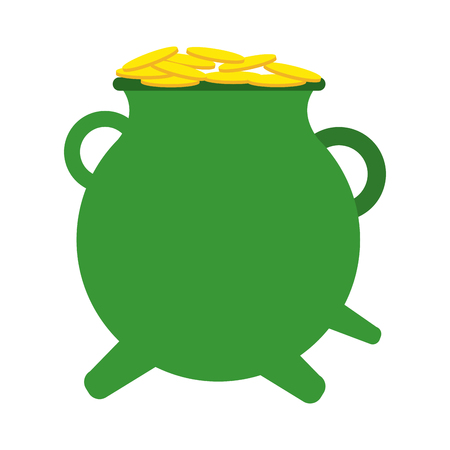 pot of gold saint patricks day related  icon image vector illustration design Illustration