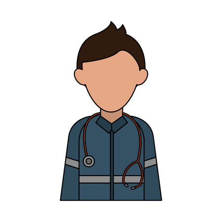 paramedic avatar icon image vector illustration design