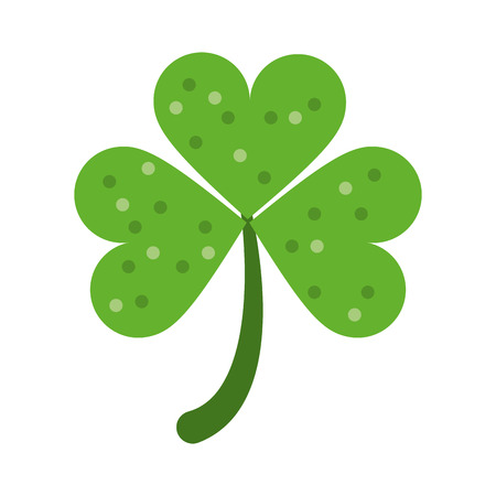 clover leaf shape: clover or shamrock saint patricks day related  icon image vector illustration design Illustration
