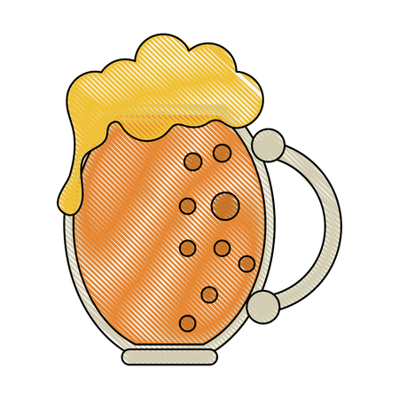 glass of beer icon imagevector illustration design