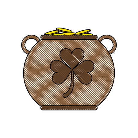 pot of gold saint patricks day related icon image vector illustration design
