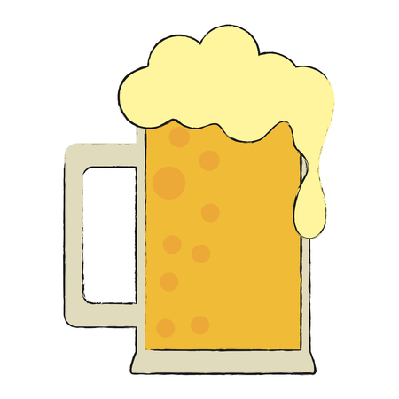 Glass of beer icon. Illustration